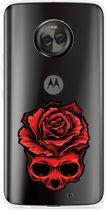 Motorola Moto X4 Hoesje Red Skull