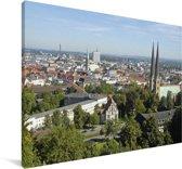 Uitzicht over de Duitse stad Bielefeld Canvas 180x120 cm - Foto print op Canvas schilderij (Wanddecoratie woonkamer / slaapkamer) / Europese steden Canvas Schilderijen XXL / Groot formaat!