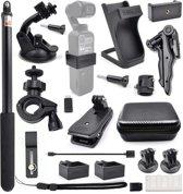 DJI OSMO Pocket - 21 in 1 uitbreiding accessoireset combo kits - statief, tripod, houder, zuignap, clip, adapter, tas etc.