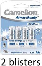 Camelion AA oplaadbare batterijen 2300mah - 8 stuks