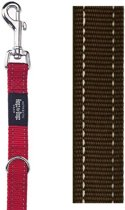 Rogz For Dogs Fanbelt Multipurpose Hondenriem - 20 mm x 1.6 m - Choco