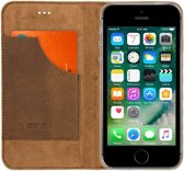Senza Raw Leather Booklet Apple iPhone 5/5S/SE Chestnut Brown