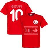 Tunesië Khazri 10 Team T-Shirt - Rood - XL