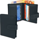 Portemonnee - Leer - 12 Pasjes - RFID - Zwart