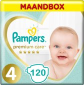 Pampers Premium Care Maat 4 Maandbox - 120 Luiers