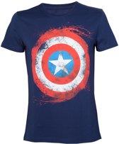Marvel Captain America Shield Blue TShirt XL