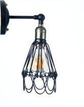 Industriële wandlamp Noli inclusief led lichtbron 4 watt E27