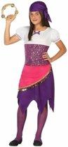 Zigeunerin Esmeralda kostuum voor meisjes - gypsy kleding 128 (7-9 jaar)