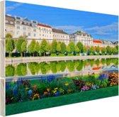 Het Belvedere Paleis Hout 120x80 cm - Foto print op Hout (Wanddecoratie)