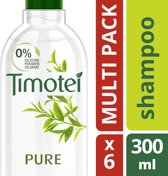 Timotei Pure - 6 x 300 ml - Shampoo - Voordeelverpakking