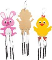 Baker Ross Houten windgongen Pasen (4 stuks per verpakking) Paasknutselwerkjes voor kinderen om te versieren en op te hangen