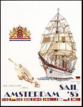 Thea Gouverneur Borduurpakket 2079 Sail Amsterdam 1985 - Linnen stof