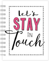 Hallmark Adresboek - Let's Stay in Touch
