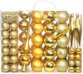 vidaXL Kerstballenset 6 cm goud 113-delig