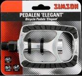 Simson Pedalen Set Elegant 9/16 Inch Zilver/zwart