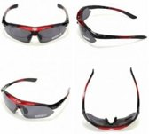 Fietsbril Polarized inclusief 5 Lenzen (Zeer Complete Set) Rood Frame