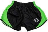 Booster Kickboks Short Retro Hybrid Zwart/Groen Medium