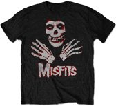 Misfits - Hands heren unisex T-shirt zwart - XL
