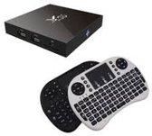 X96 Android Media TV Box Ultra HD 4K S905X Kodi 17.1 Android 6.0 - 1GB 8GB + GRATIS Rii i8 Wit draadloos toetsenbord