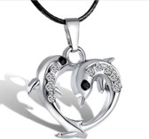 Treasure Trove® Dolfijn Ketting met Hanger - Kinderketting - Meisje - Zilverkleurig