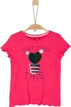 s.Oliver Meisjes T-Shirt - roze - Maat 116/122