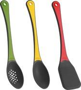 Trudeau Set Van 3 Stapelbare Tools - Silicone En Nylon