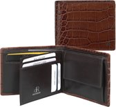dR Amsterdam Billfold - Croco - 24559 Brown
