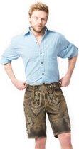 Tannhauser Oktoberfest echte Lederhosen voor mannen | Retro Topmodel Short | Donkerbruin | Maat XL
