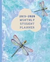 2019-2020 Monthly Student Planner: August 2019 to July 2020 Academic Year Class Timetable and After School Activity Organizer plus Notebook Pages - Ar