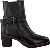 Shabbies Laarsjes Ankle Boot With Zipper Grain Zwart