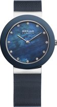 BERING 11435-387 - Horloge - Staal - Blauw - 35 mm