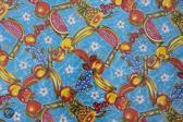 Atelier Du Baj Ananas Blue Mexicaans Tafelzeil - 250 x 120 cm