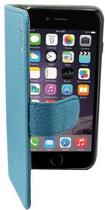 Suncia PREMIUM Leather5 Case / Boekvorm Hoes voor de Apple iPhone 6 Plus Blauw
