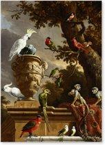 De Menagerie - d' Hondecoeter - Vogels - Schilderij op Canvas