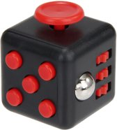 Fidget Cube | Friemelkubus | Anti Stress Kubus | Anti Stress Speelgoed - Zwart/Rood