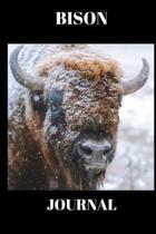 Bison Journal: Stunning picture of a Bison on a journal/Notebook/Diary to write in, draw in or doodle in. Will make a nice gift for f