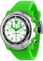 GR20131 Glam Rock Miami Beach horloge voor dames en heren - 50 mm - Siliconen - Groen