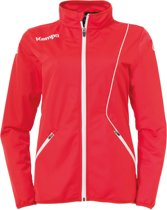 Kempa Curve Classic  Trainingsjas - Maat S  - Vrouwen - rood/wit