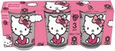 Hello Kitty glazenset 3-delig