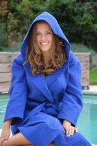 ARTG Robezz® Wafelbadjas met Capuchon - True Blue - Maat 4XL