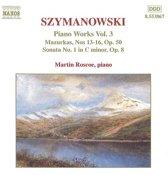 Szymanowski: Piano Works Vol.3