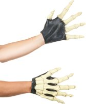 Skelet handschoenen voor volwassenen - Verkleedaccessoires - One size