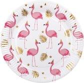 Set 6 Bordjes Flamingo (23 cm)