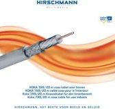 Hirschmann - Coax Kabel - op rol - wit - 20 meter