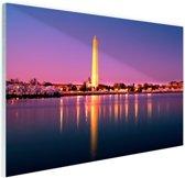 Washington Monument Glas 180x120 cm - Foto print op Glas (Plexiglas wanddecoratie) XXL / Groot formaat!