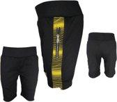 Korte broek jongens zwart geel 98/104