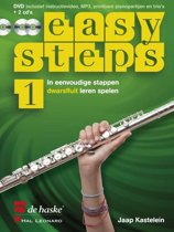 Easy Steps Deel 1 voor Dwarsfluit (Boek met 2 Cd's en 1 DVD) (DVD inclusief instructievideo, MP3, printbare pianopartijen en trio's)