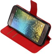 Rood Samsung Galaxy E5 TPU wallet case booktype hoesje HM Book