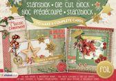 Classic Christmas - A5 Stansblok met Folie