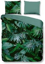 Snoozing Jungle - Dekbedovertrek - Lits-jumeaux - 240x200/220 cm + 2 kussenslopen 60x70 cm - Green